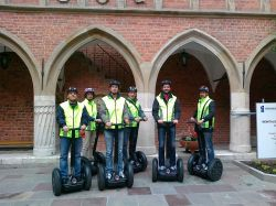 One day in Cracow, 1c) Krakow by Segway